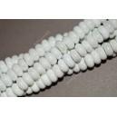 Keramikos karoliukas , rondelė , balta sp., 5x10 mm. 1 vnt.
