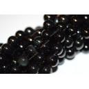 Juodas auksinis obsidianas ( Black/Gold obsidian ) 8 mm. 1 juosta