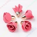Pakabukai gėlytės , dirbtinės odos , rožinė sp., 50x30x mm., 1 vnt.