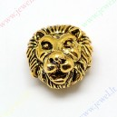 """Intarpas , aukso sp., """"Liūtas"""" , 13x12x7 mm., 1 vnt."""