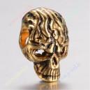 """Intarpas ,sendinto aukso sp., """"Kaukuolė"""", 13x8,5x8,5 mm., skylė apie 3 mm., 1 vnt."""