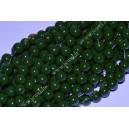 Stikliniai karoliukai ( dažyti ) 8 mm., tamsiai žalia sp., 1 juosta ( apie 100 vnt.)