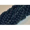 Stikliniai karoliukai ( dažyti ) 10 mm., tamsiai mėlyna sp., 1 juosta ( apie 80 vnt.)