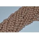 Stikliniai karoliukai ( dažyti ) 10 mm., smėlinė sp., 1 juosta ( apie 80 vnt.)