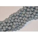 Stikliniai karoliukai ( dažyti ) 10 mm., pilka sp., 1 juosta ( apie 80 vnt.)