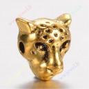 """Intarpas , aukso sp.,""""Leopardas"""", 10x10x7,5 mm., Skylė  1,5 mm, 1 vnt."""