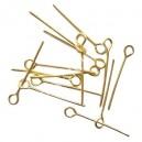 Smegtukai su kilpute , aukso sp. 70x0,7 mm, 30 vnt.