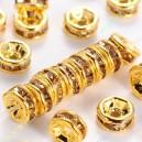Intarpai aukso sp.su šviesaus topazo sp. akutėmis , 4x2 mm, 1 vnt.