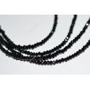 Rondelė forma 1,5x2,5 mm.juoda sp., 1 juosta ( apie 215 vnt.)