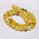 Natūralus geltonasis opalas 6 mm., 1 juosta ( apie 63 vnt.)