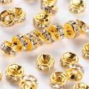 Intarpas aukso sp., su skaidriom akutėm 5x2,5 mm., 1 vnt.