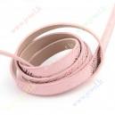 Dirbtinės odos juostele 10x2 mm., rožinė sp., 1,2 m.
