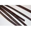 Zomšinė juostelė , ruda sp. 4x1 mm., 1 m.