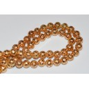 Lava ,dažyta, aukso sp., 12 mm., 1 juosta ( apie 32 vnt.)