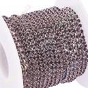 Grandinėlė sidabro sp.,su violetinėm ( ametist ) akutėmis , 2,0 mm. 1 m.