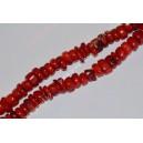 Koralas , raudonas , apie 9 x 3-5  mm., 1 juosta ( apie 40 cm.)