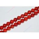 Koralas , raudonas , apie 8 mm., 1 juosta ( 52 vnt.)