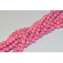 Sintetinio turkio karoliukai 8 mm., rožinė sp. , 1 juosta ( apie 50 vnt.)