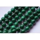 Žadeitas , dažytas , žalia sp. 6 mm. 1 juosta (apie 64 vnt.)