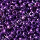 Preciosa, čekiškas biseris apie 50 gr. ( 6/0 ) metalizuota violetinė sp.