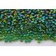 Preciosa, čekiškas biseris apie 50 gr. ( 10/0 ) skaidri , marga, žalia sp.