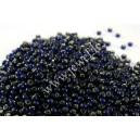 Preciosa, čekiškas biseris apie 50 gr. ( 10/0 ) skaidri su folija , mėlyna sp.