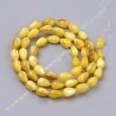Kriaukliniai karoliukai , 8x5 mm., geltona sp. 1 jkuosta ( apie 50 vnt.)