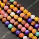 Kriaukliniai karoliukai , spalvoti., 6 mm., 1 juosta ( apie 62 vnt.)