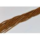 Hematito karoliukai,sen.aukso sp. 1,5 mm juosta ( apie 40 cm.)