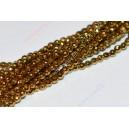 Hematito karoliukai, briaunuotas, sen.aukso sp. 2,0 mm juosta ( apie 40 cm.)